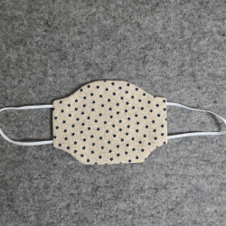 Beige with Blue Stars Cotton Face Mask