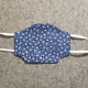 Blue with Little Flowers Cotton Face Mask