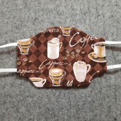 Coffee Time Cotton Face Mask