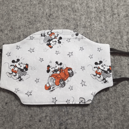 Mickey and Minnie in Love Cotton Face Mask