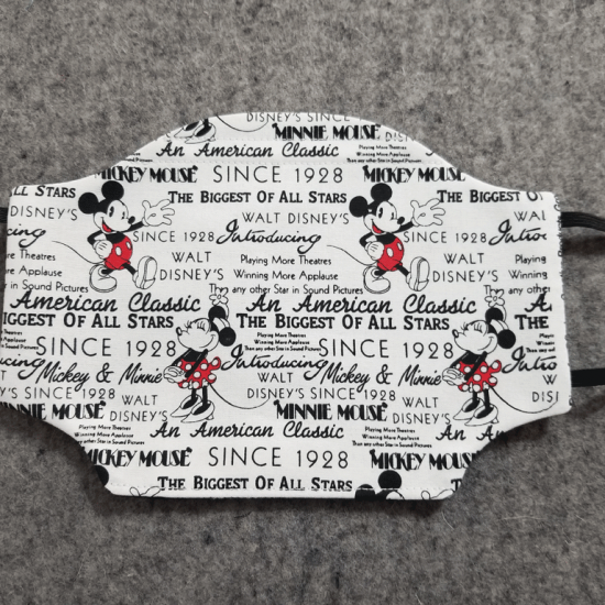Mickey and Minnie Since 1928 Cotton Face Mask