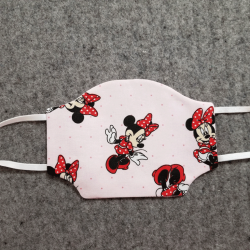 Minnie on Pink Cotton Face Mask