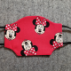 Minnie on Red Cotton Face Mask