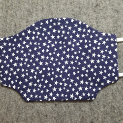 Navy with White Stars Cotton Face Mask