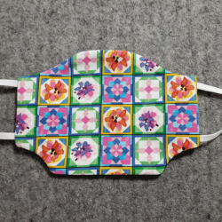 Quilted Squares Cotton Face Mask