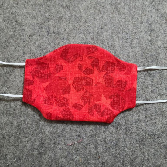 Red Stars Cotton Face Mask