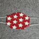 Red with Big White Stars Cotton Face Mask