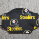 Steelers on Black Cotton Face Mask