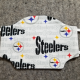 Steelers on White Cotton Face Mask