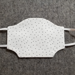 White with Black Polka Dots Cotton Face Mask